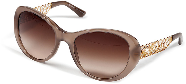 Dolce & Gabbana Oversized Sunglasses with Gilded Detailing