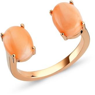 Selda Jewellery Double Coral Ring