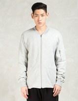 Shades of Grey by Micah Cohen Grey Knit Bomber Jacket
