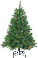 Sterling 4.5' Hard/Mixed Needle Wisconsin Spruce Multi-Colored Lights Artificial Christmas Tree