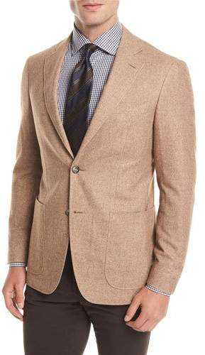 Canali Silk-Cashmere Patch Pocket Blazer