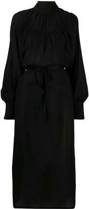 Ann Demeulemeester Tie-Waist Tunic Dress