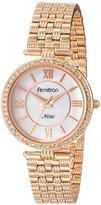 Swarovski Armitron Women's 75/5214MPRG Crystal Accented Rose Gold-Tone Bracelet Watch