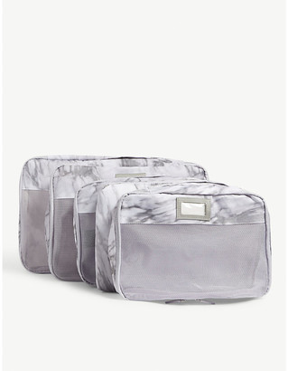 CalPak Milk Marble packing cubes set of five