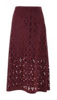 Tibi Aleyda Cutout Long Skirt