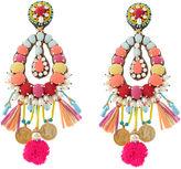 Ranjana Khan Multi Big Beaded Clip-On Earrings