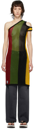 Telfar Multicolor Asymmetric Tank Tunic Dress