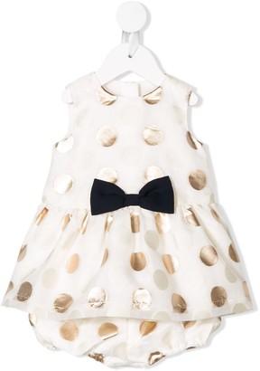 Hucklebones London polka-dot flared dress