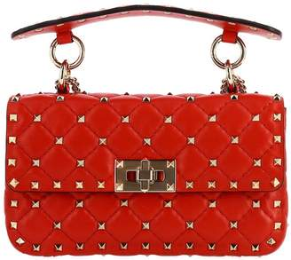 Valentino Garavani Rockstud Spike Bag In Quilted Genuine Leather With Micro Studs
