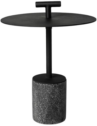 Horgans Perry Outdoor Side Table Black