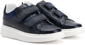 Emporio Armani Kids Logo Strap Low-Top Sneakers