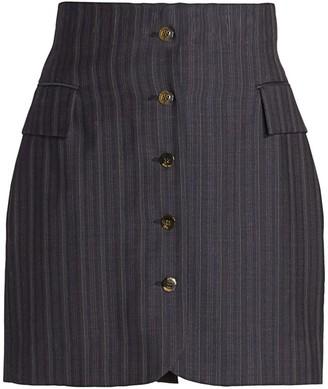Acne Studios Pinstripe Mini Skirt