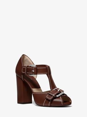 Michael Kors Hillary Leather Sandal