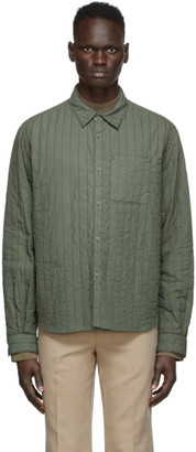 Kenzo Green Quilted Shirt Jacket