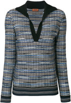 Missoni V-neck plaid jumper
