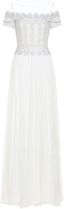 Temperley London Sophia embellished silk bridal gown