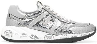 Premiata Layla metallic low top sneakers