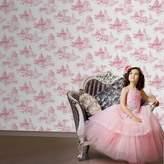 Graham & Brown Pink Disney Princess Toile Wallpaper