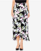 Vince Camuto Floral-Print Faux-Wrap Ruffled Long Skirt