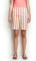 "Classic Women's Petite Mid Rise 10"" Bermuda Shorts-Phipps Orange Stripe"