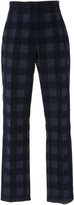 Rosetta Getty Cropped Skinny Check Trousers