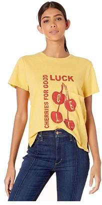 Current/Elliott The Drop Pocket Tee (Mustard/Graphic) Women's T Shirt