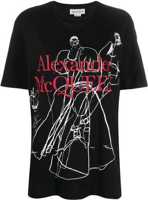 Alexander McQueen drawing print T-shirt
