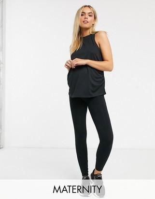 Asos 4505 4505 Maternity icon legging in cotton touch-Black