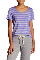 Andrew Marc Stripe Scoop Neck Tee