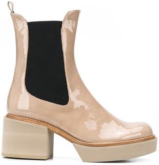 Paloma Barceló Patent Ankle Boots