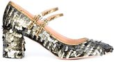 Rochas sequined pumps - women - Leather/Nylon/Sequin - 36.5