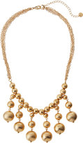 Lydell NYC Textured Golden Ball Bead Drop Necklace