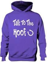 Print4u Talk To The Hoof Girls Horse Riding Hoodie Equestrian Pony Gift Age 7-8