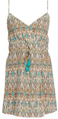 Biondi - Mirage Silk Dress - Womens - Blue Print