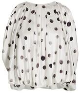 Thumbnail for your product : Alejandra Alonso Rojas Circle Print Silk Blouse