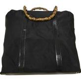 Gucci Bamboo cloth travel bag