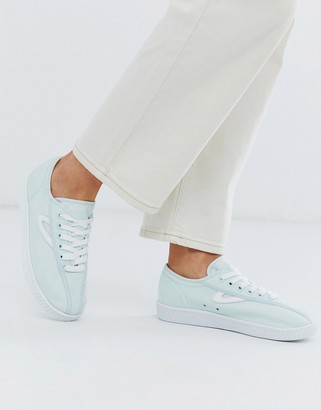Tretorn lace up trainers in mint
