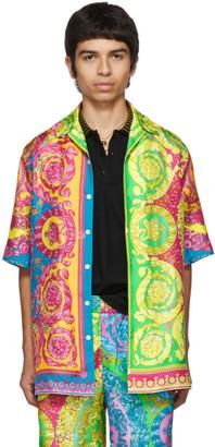 Versace Multicolor Barocco Print Shirt