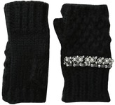 San Diego Hat Company KNG3401 Chunky Fingerelss Gloves with Faux Gems