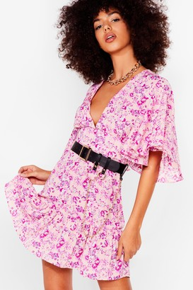 Nasty Gal Womens Bud Going Floral Mini Dress - Pink - 6, Pink