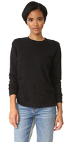 Cotton Citizen Malibu Destroyed Crew Neck Sweatshirt
