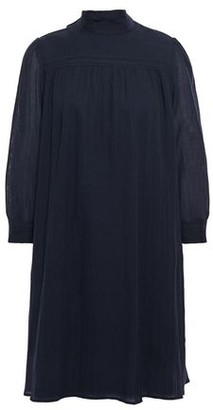 BA&SH Draped Modal And Cotton-blend Gauze Mini Dress