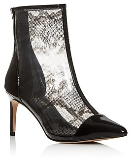 Kurt Geiger Women's Clear Snake Print High-Heel Booties
