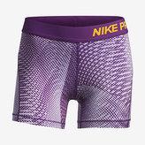 """Nike Pro Big Kids' (Girls') Printed 4"""" Training Shorts"""