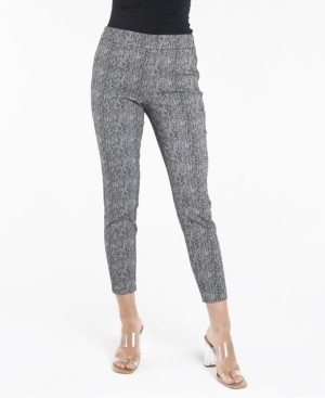 Nanette Lepore Pull On Textured Slim Leg Pants
