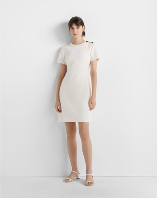 Club Monaco Button Shoulder Dress