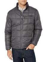 Hawke & Co Men's Lightweight Box Quilt Down Jacket   Water and Wind Resistant All Season Coat