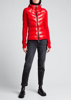 MONCLER GRENOBLE Technical Hooded Lined Fleece Zip-Up Sweatshirt