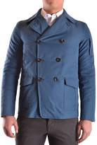 Geospirit Men's Blue Cotton Coat.