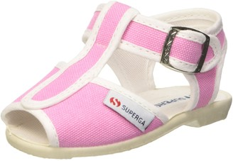 Superga Unisex Kids' 1200-cotj Sandals Pink Red (Rosso 970) 3 UK (19 EU)